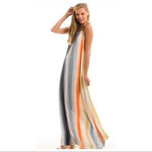 0b5f63f90fe Love in Dresses - Rainbow Halter Top Maxi Dress